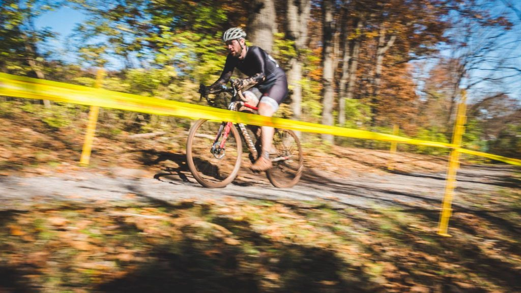 Cyclocross action shot
